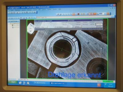 Bildverarbeitung mit Auswertung der Drehlage